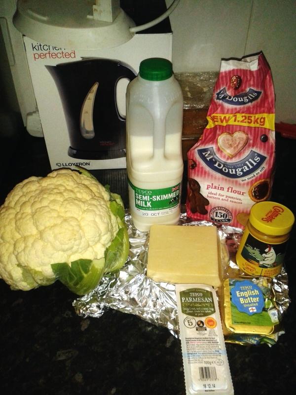 cookies larder cauliflower cheese ingredients